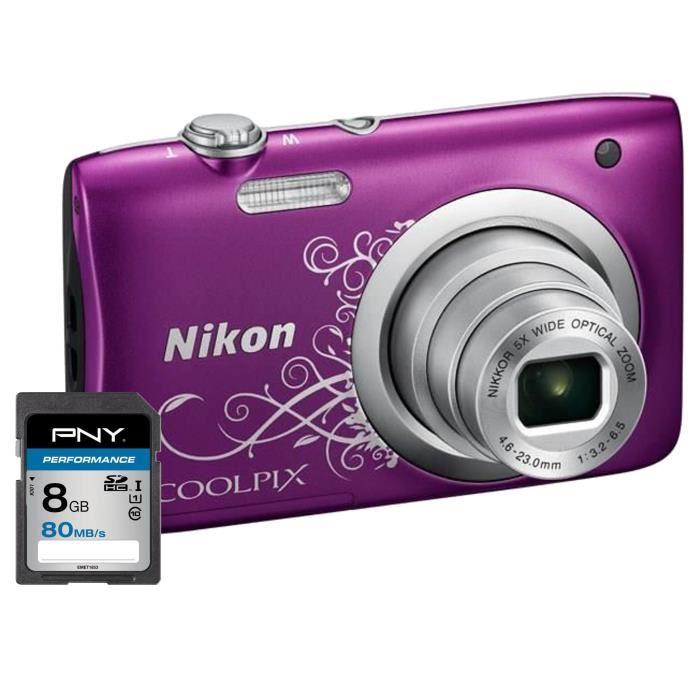 appareil photo numérique violet