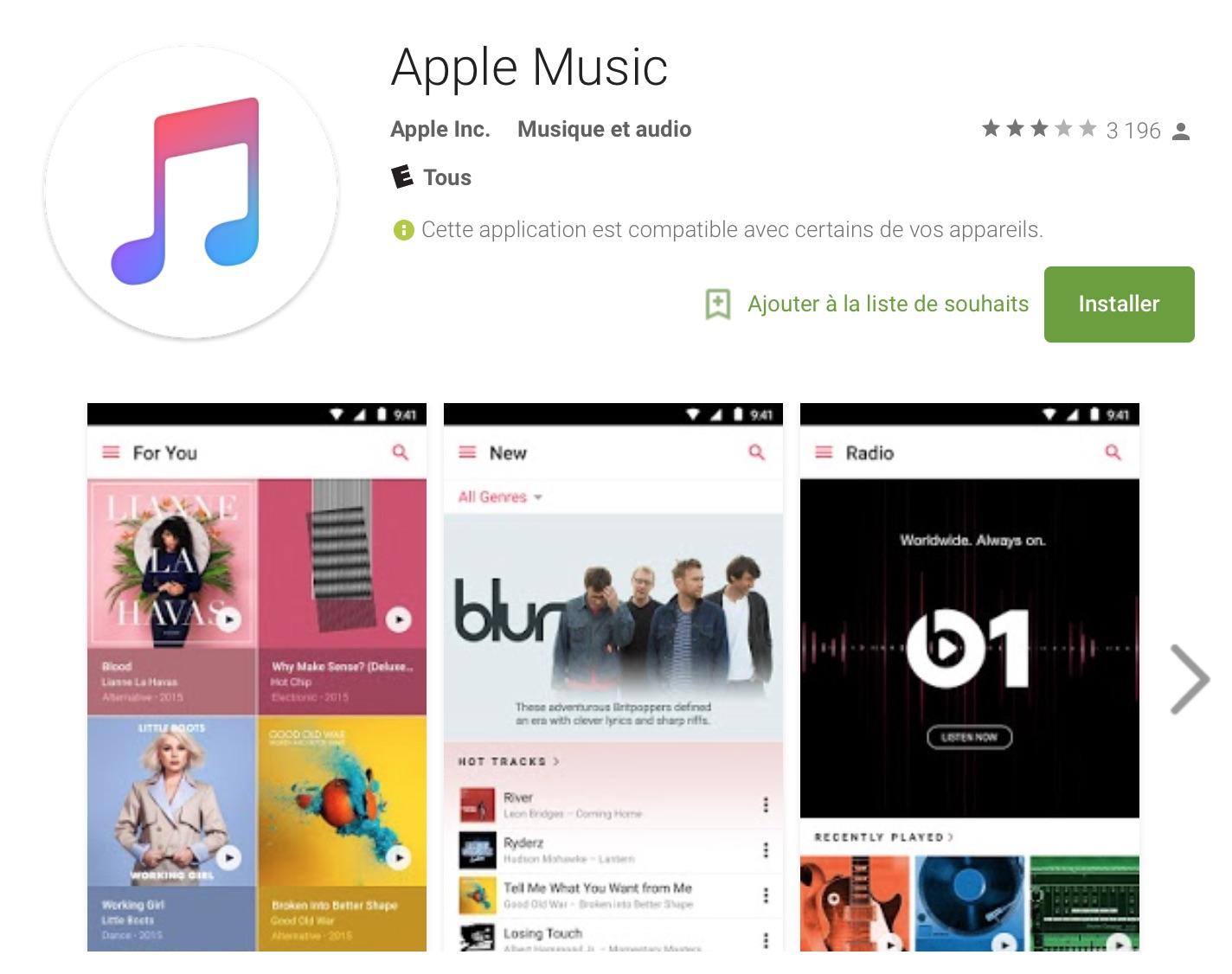 apple musique gratuite