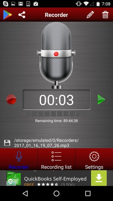 application enregistreur vocal