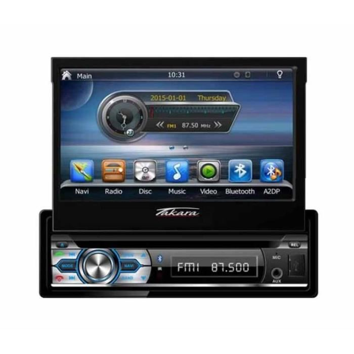 autoradio ecran retractable