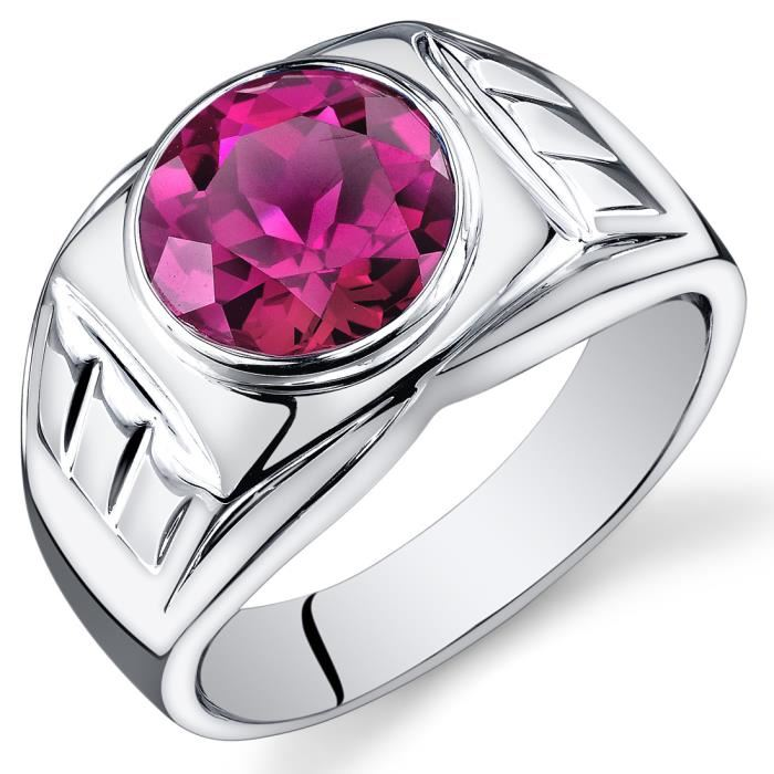 bague homme rubis