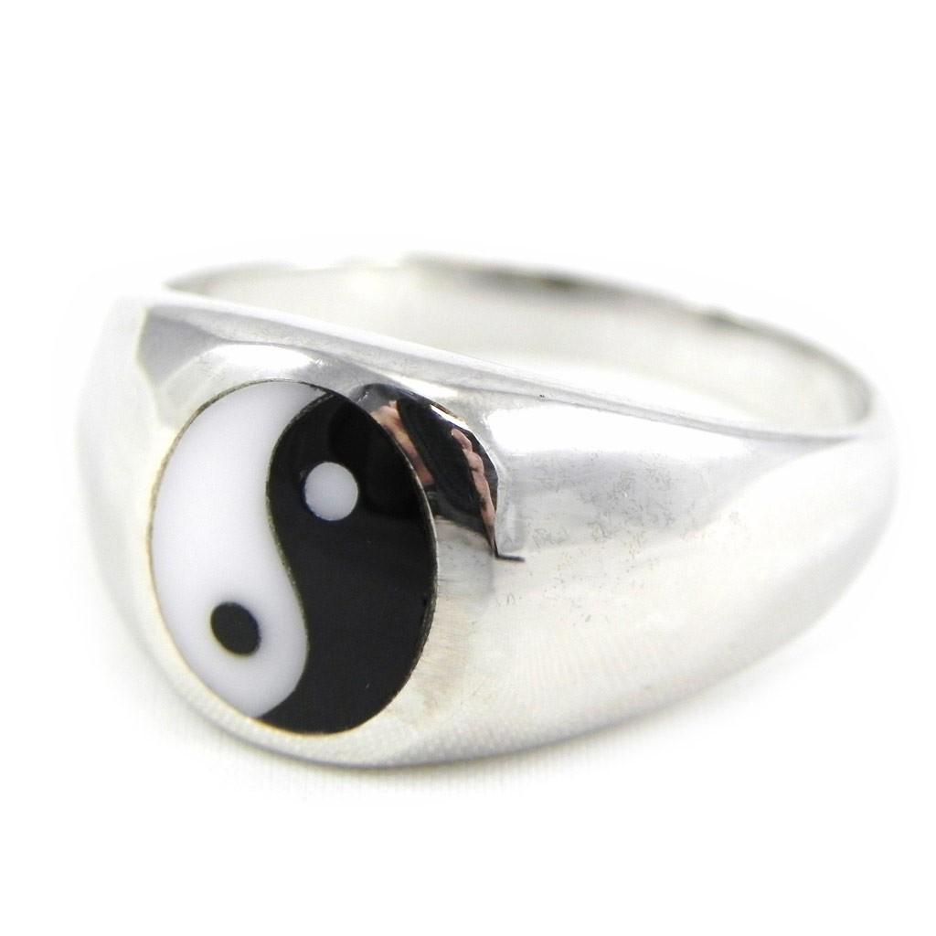 bague homme yin yang