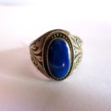 bague lapis lazuli homme