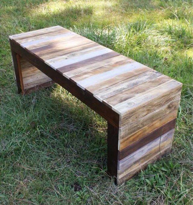 banc en palette bois