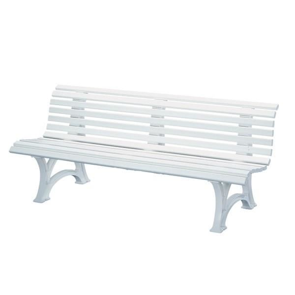 banc plastique blanc