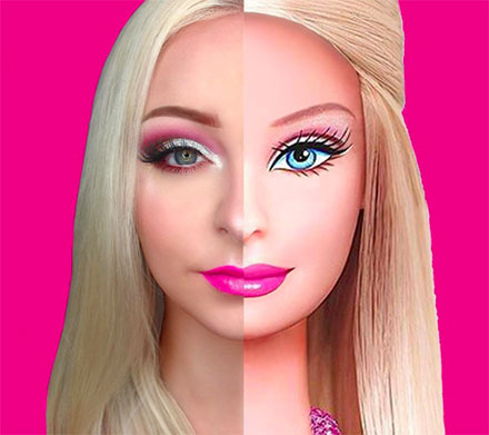 barbie maquillage
