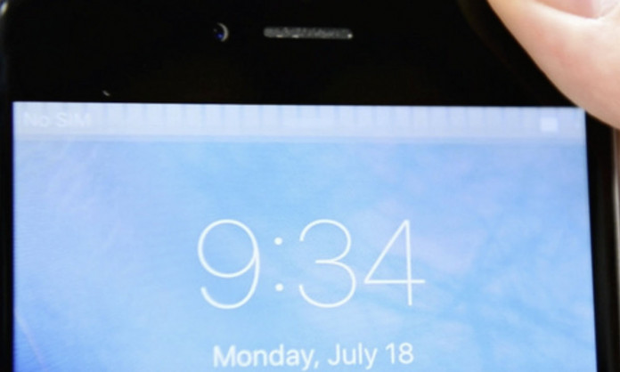barre blanche ecran iphone