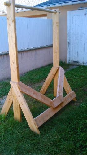 barre de traction en bois