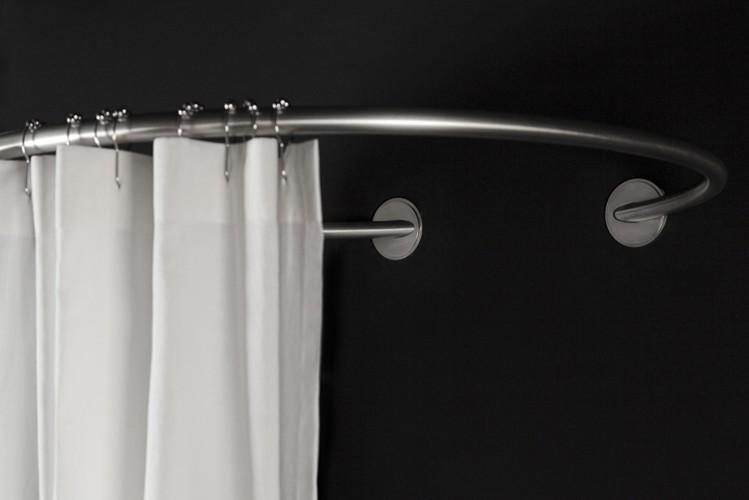 barre rideau de douche ronde