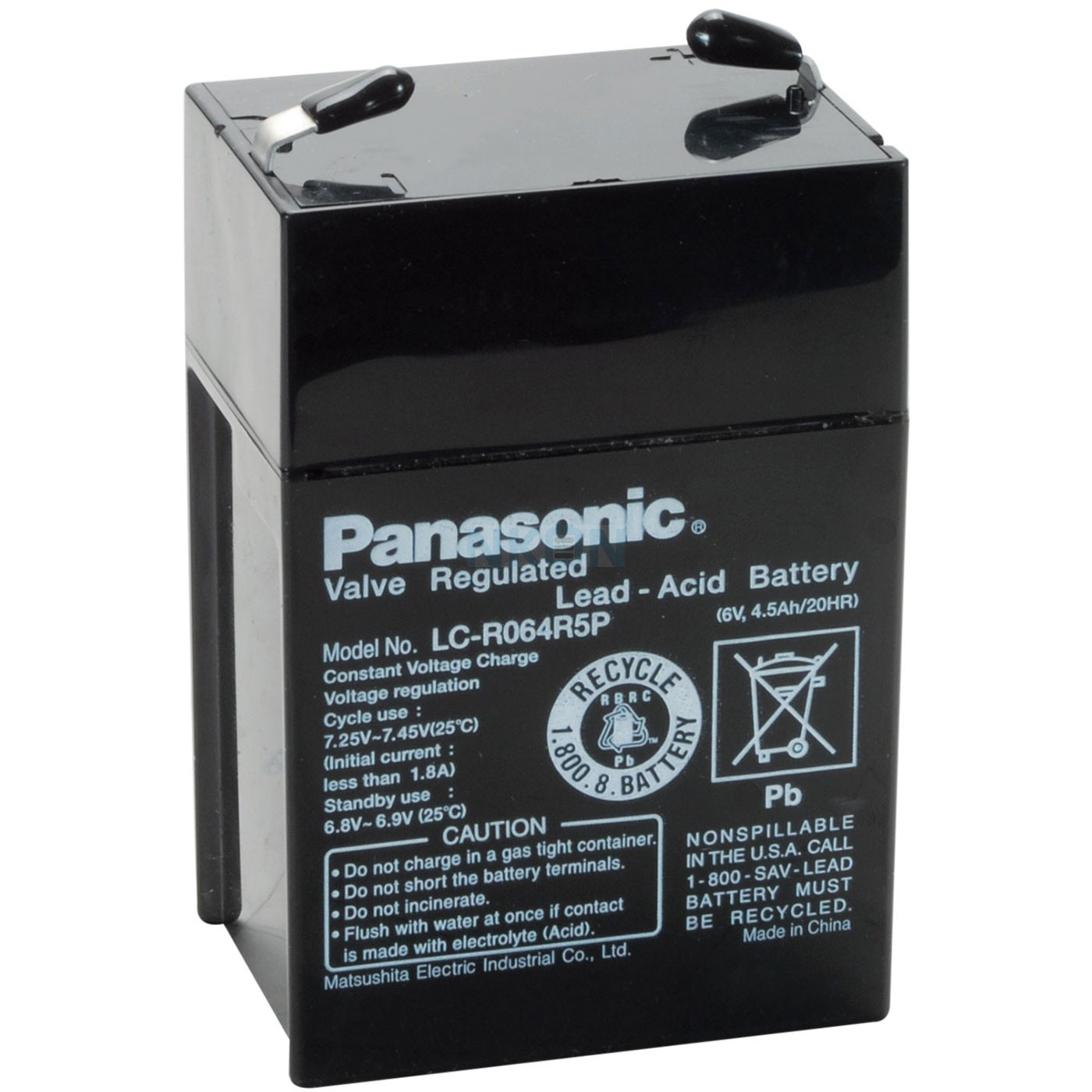 batterie 6v 4.5 ah rechargeable