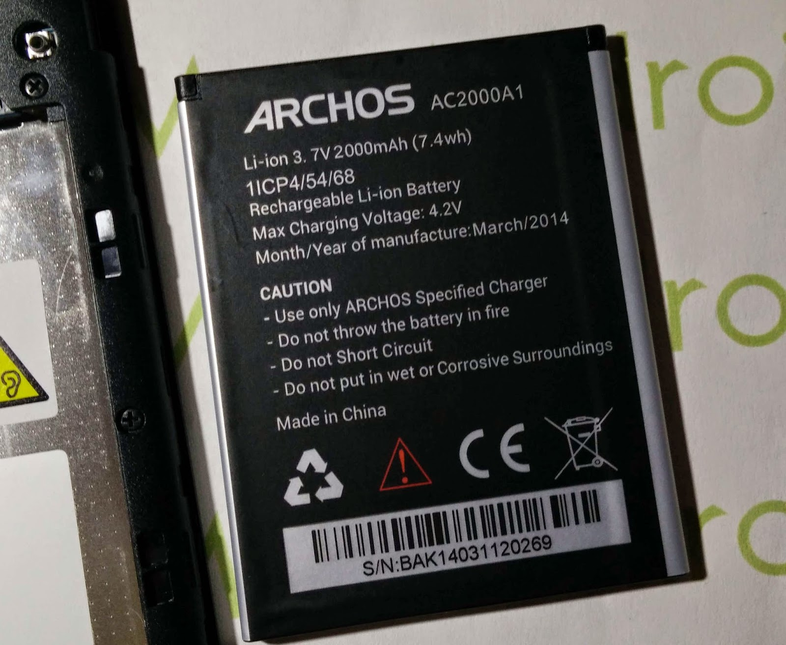 batterie archos 50 helium plus