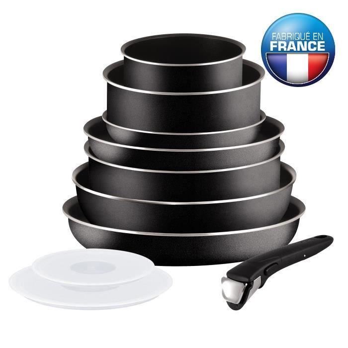 batterie de cuisine tefal ingenio 5 performance noir 10 pièces
