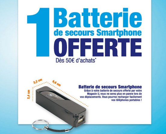 batterie externe super u