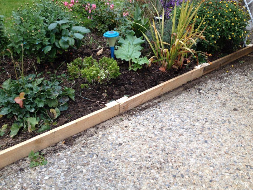 bordure de jardin en palette