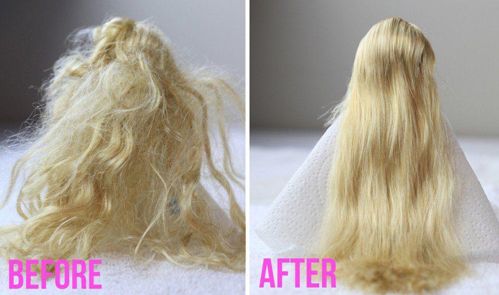 demeler cheveux poupee