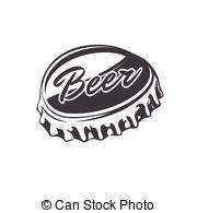 dessin capsule de biere