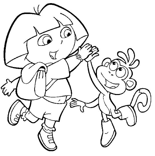 dessin de dora et babouche