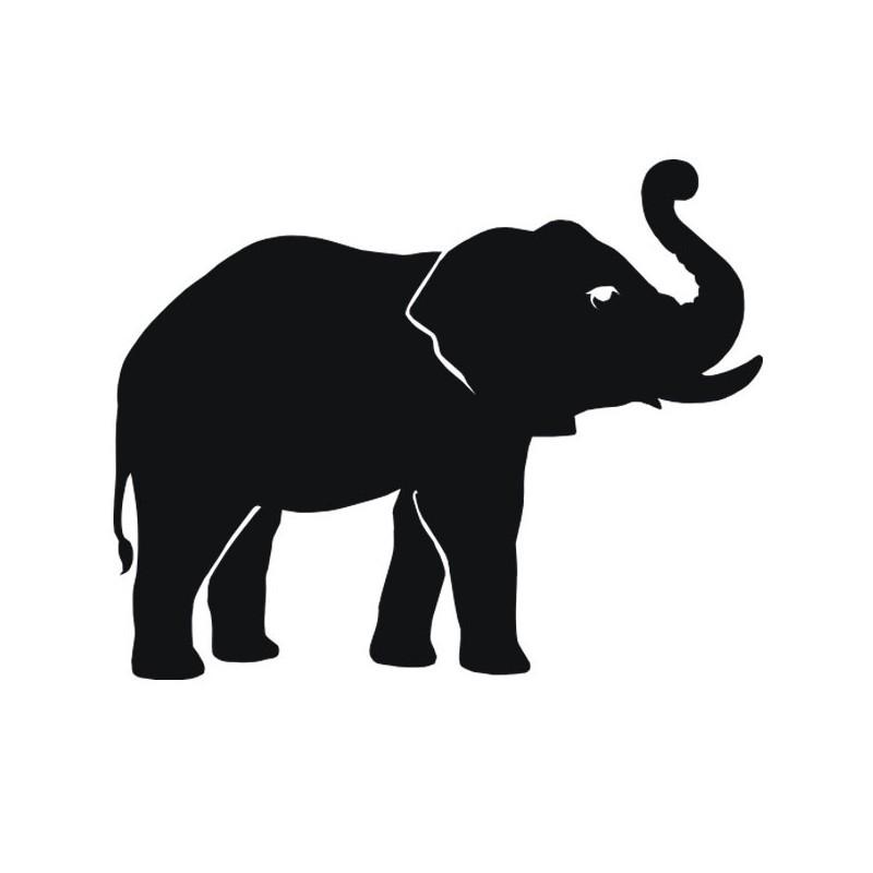 dessin elephant noir et blanc