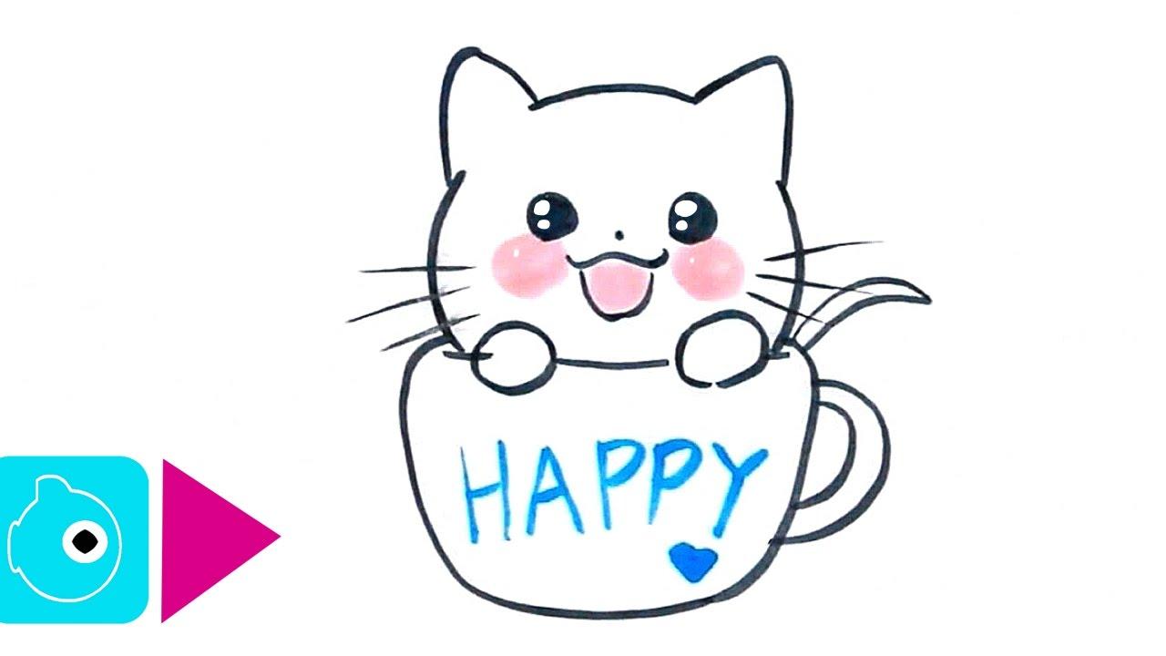 dessin mignon chat