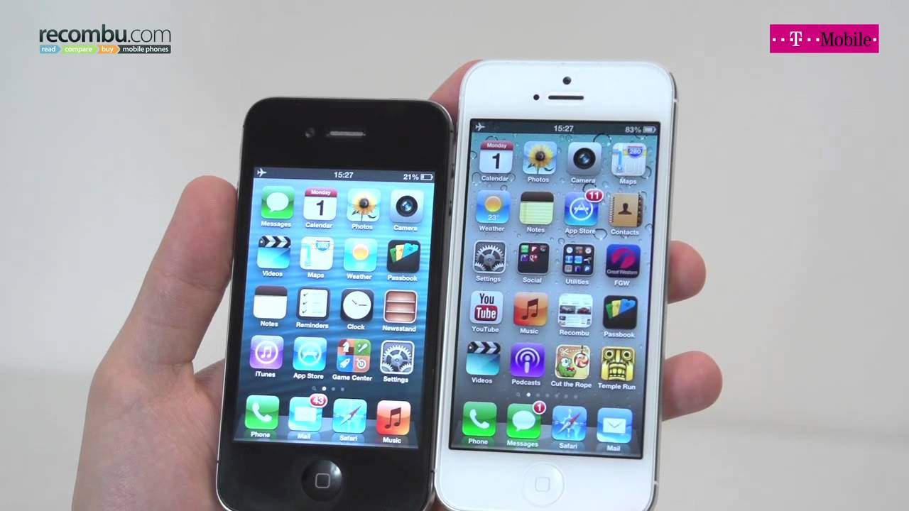 difference entre iphone 4s et 5s