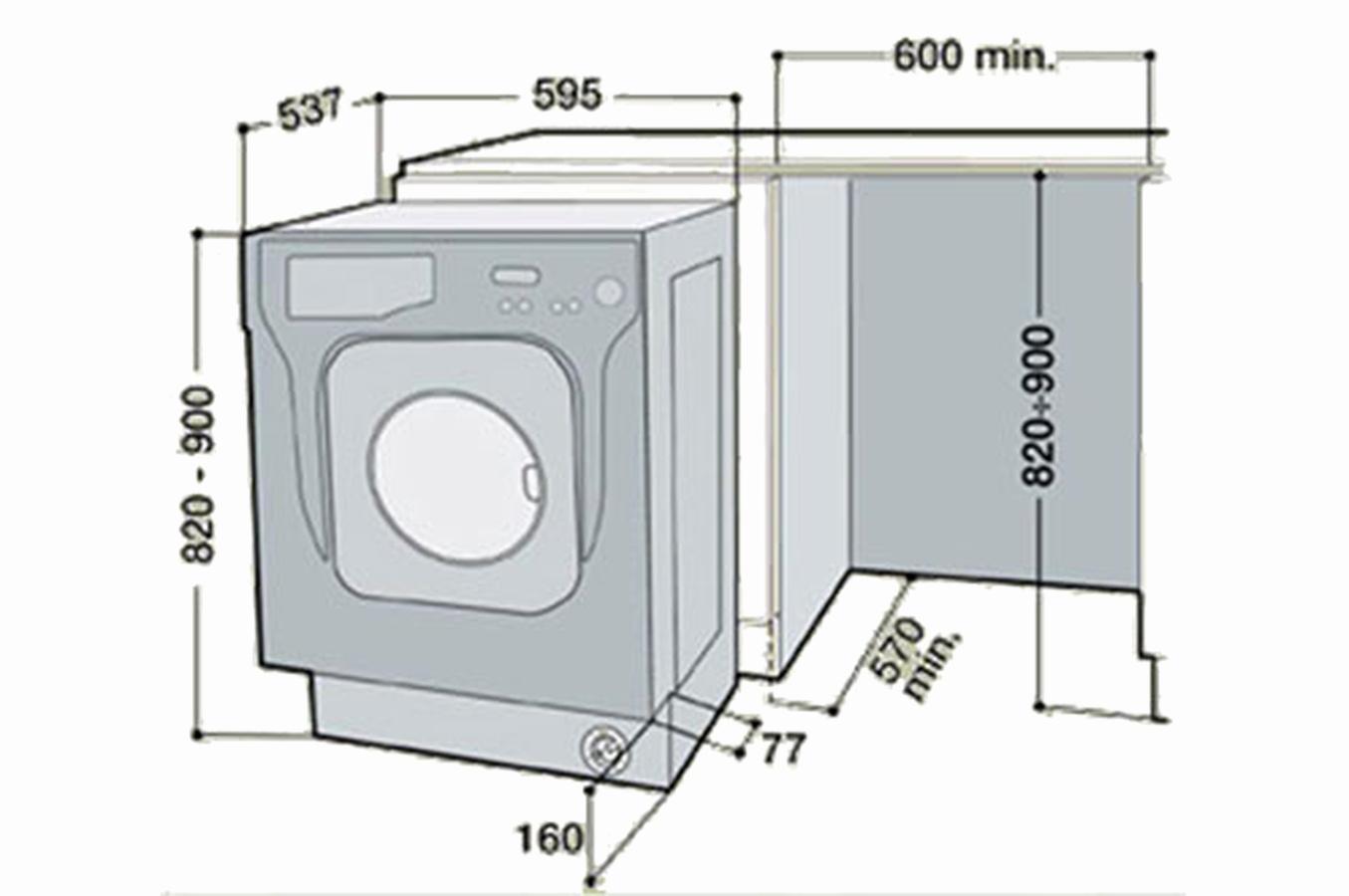dimension d une machine a laver a hublot