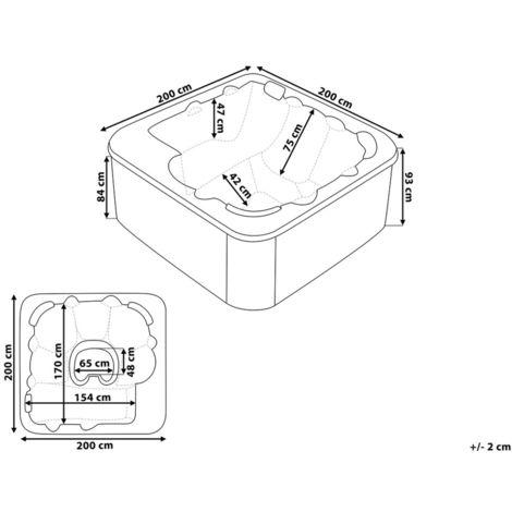dimension spa 6 places