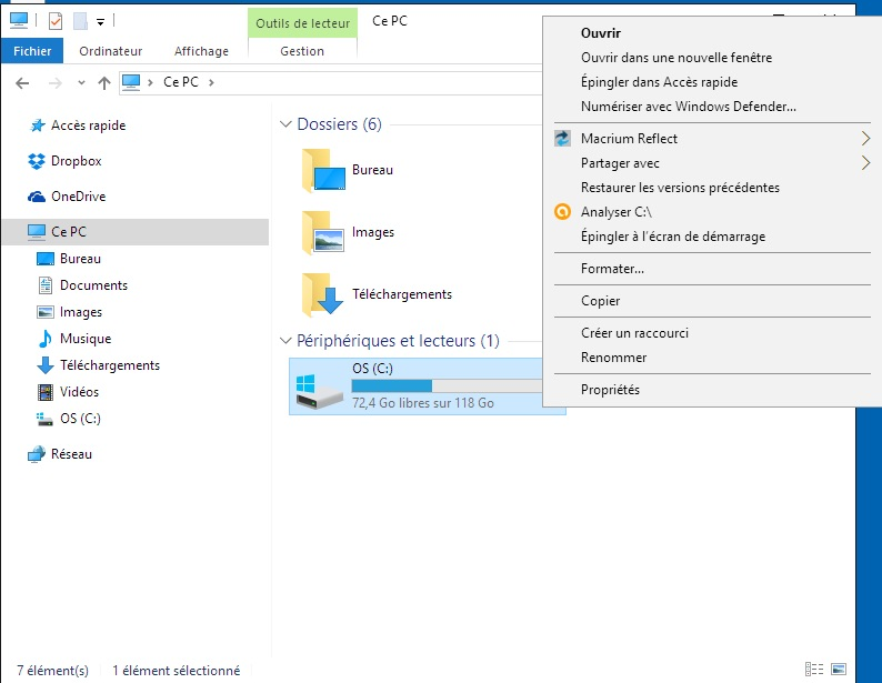 disque dur avec windows 10