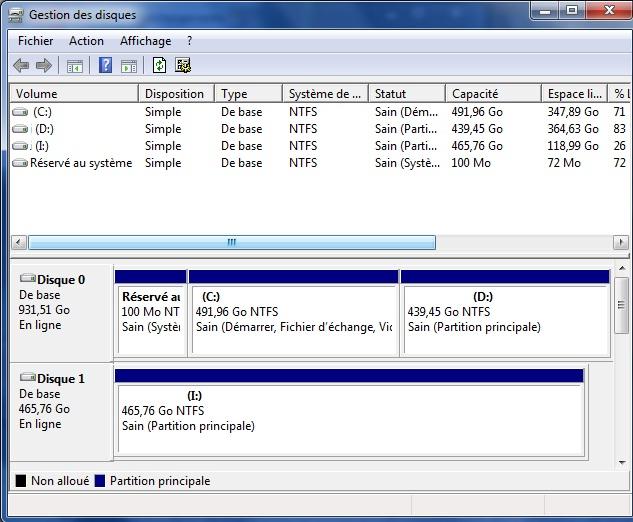 disque dur externe en raw