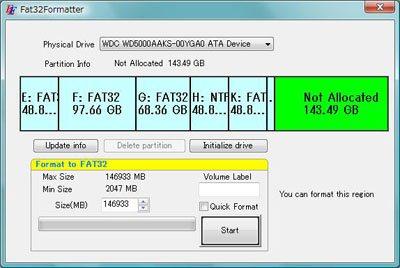 disque dur externe fat32