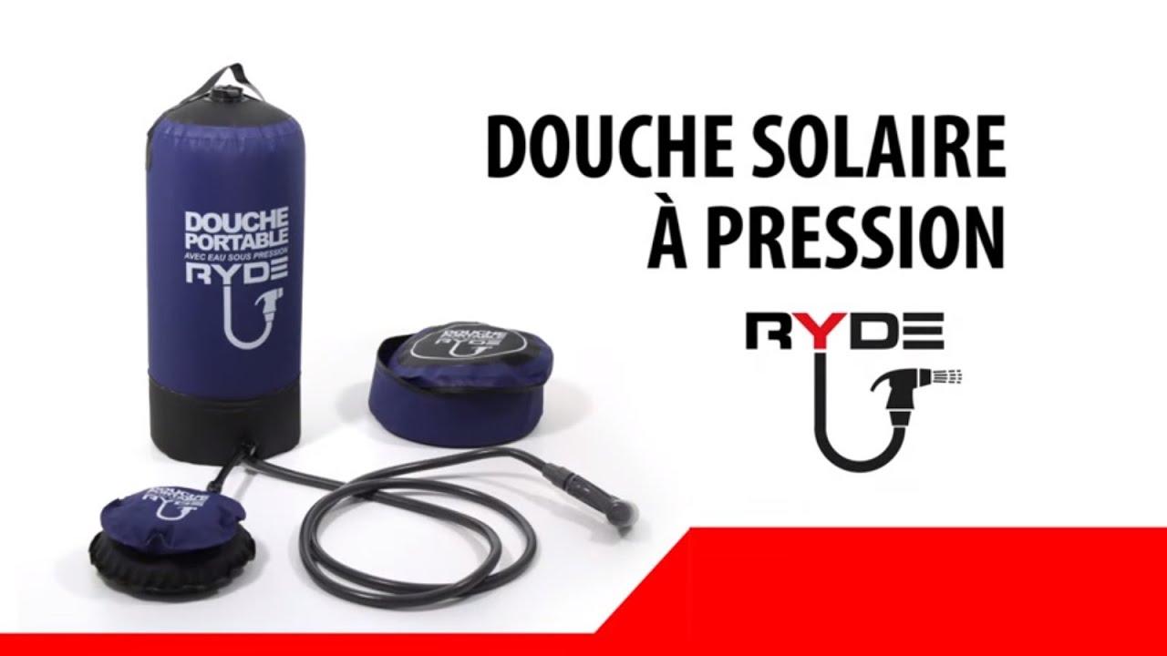 douche solaire portable sous pression