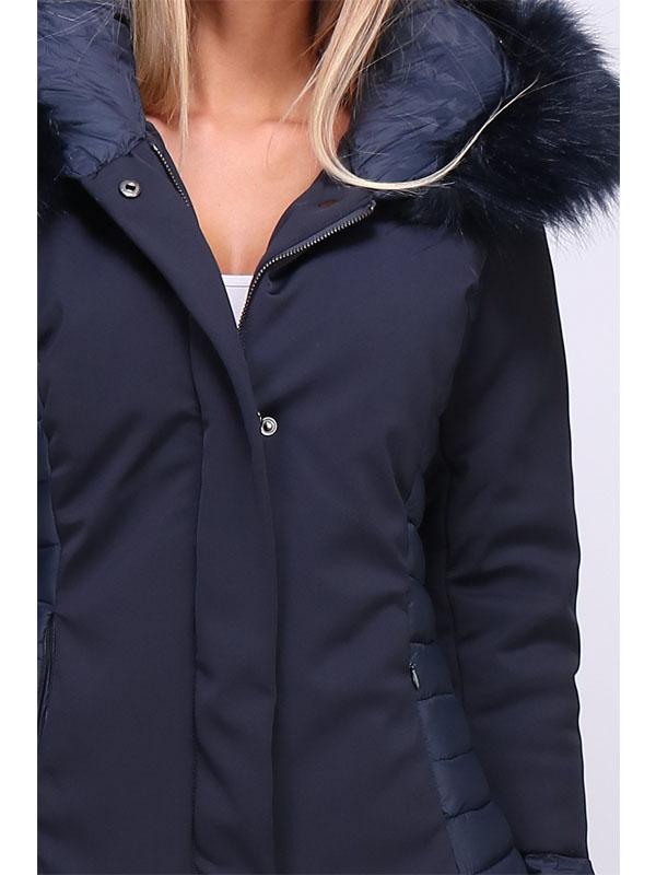 doudoune bleu marine femme