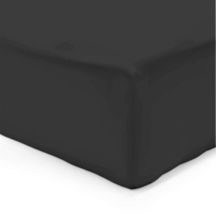 drap housse noir 180x200