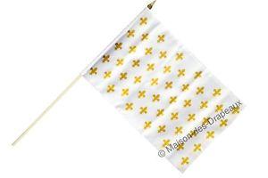 drapeau fleur de lys blanc