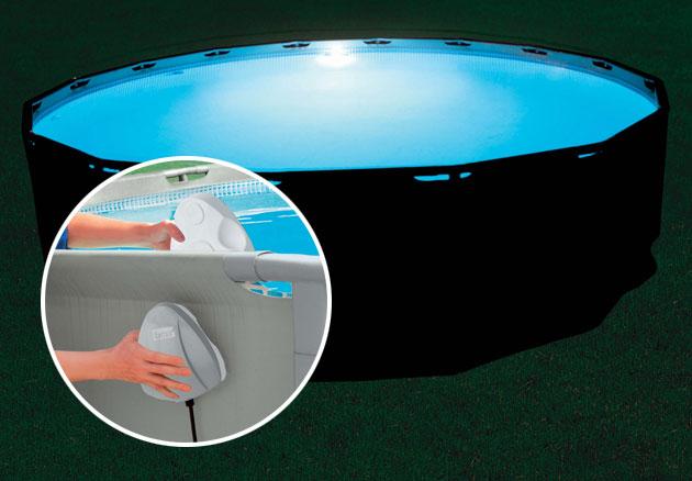 eclairage piscine hors sol sans fil