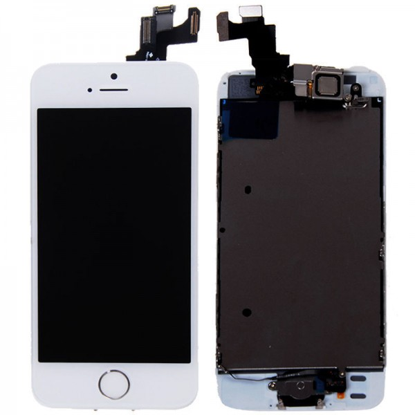 ecran iphone 5s blanc complet